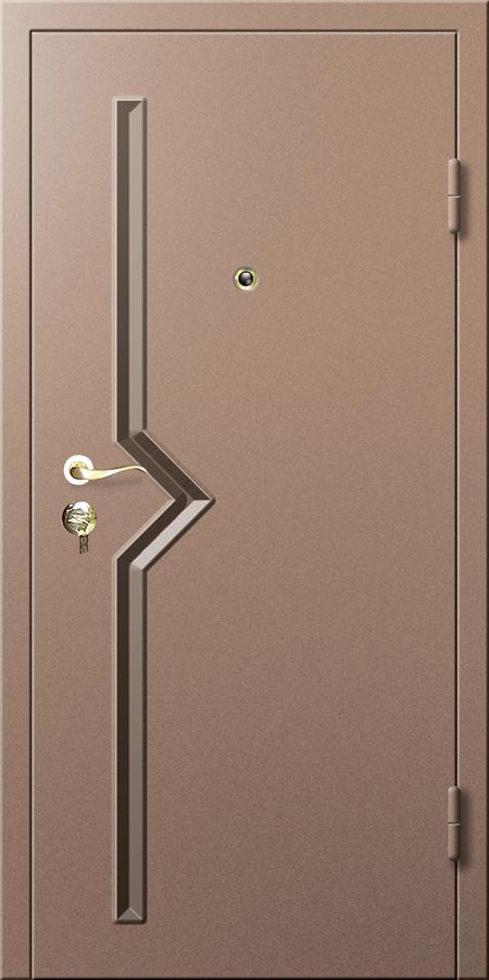 Железные двери в стиле минимализма