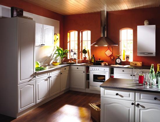 Газовый настенный котел Viessmann в кухне