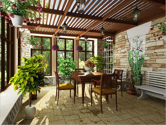 Зимний сад летом может превратиться в террасу