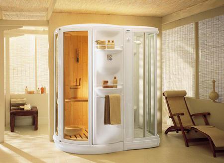 Домашняя мини-сауна в ванной