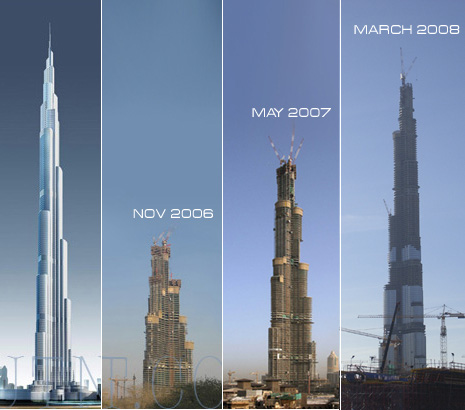 Burj Dubai - самый высокий небоскреб в мире