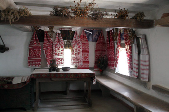 украинский интерьер, интерьер в украинском стиле