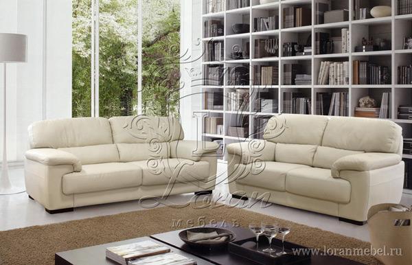 Трехместный кожаный диван Порше