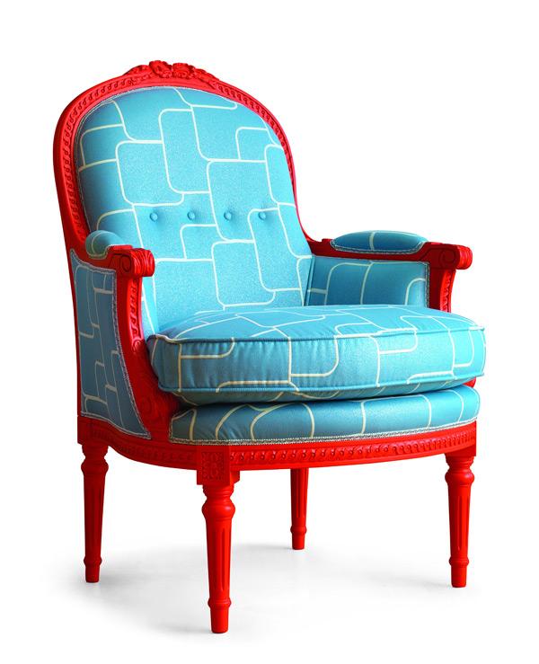 Лофт Byblos в синем кабинете - кресло Fragonard