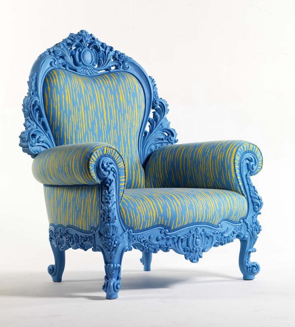 Лофт Byblos в синем кабинете  - кресло Murillo