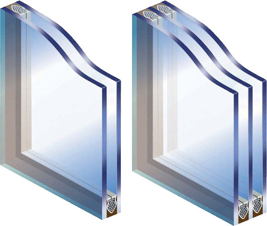 Стеклопакеты: стекло, дистанционная рамка, осушитель и герметики