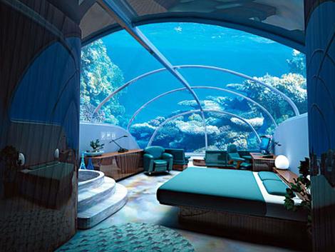 Poseidon Undersea Resort – подводный отель с дистанционным управлением кормления рыб