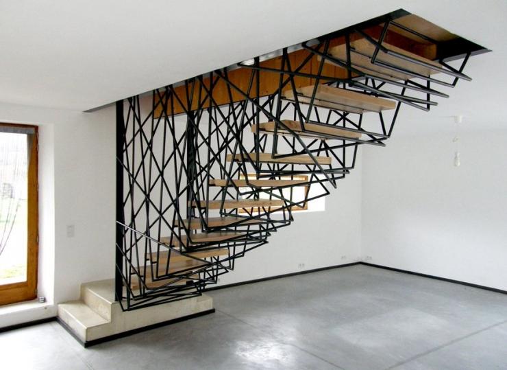 Фотоподборка необычных лестниц в интерьере