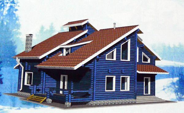Проект деревянного дома на 203 кв. м. с межвенцовым утеплителем