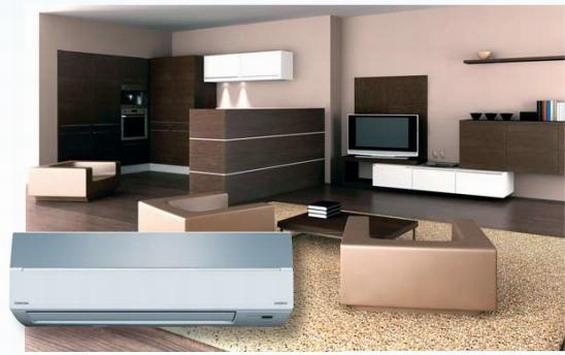 Дизайн сплит-кондиционеров Toshiba удачно сочетается с интерьером