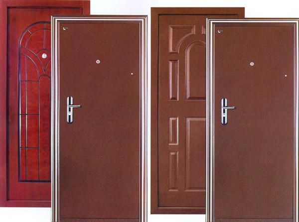 двери из стального профиля большие