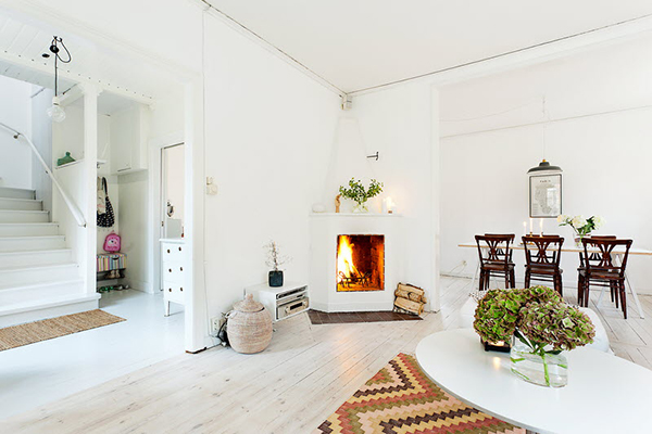 Интерьер небольшого дома в скандинавском стиле в Швеции. Проект дома в шведском стиле.