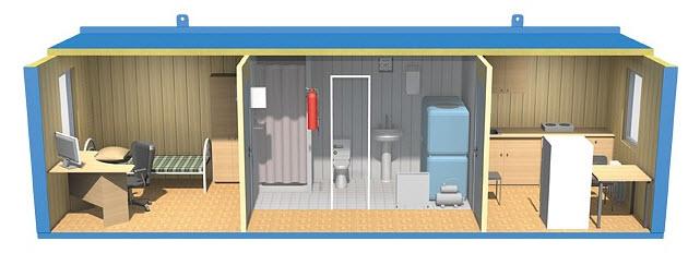 Варианты размещения рабочих: общежития и строительные бытовки