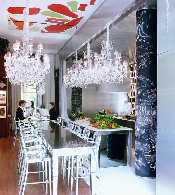 Интерьер отеля Le Royal Monceau в Париже