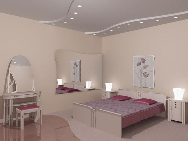 Дизайн натяжного потолка для спальни дизайн
