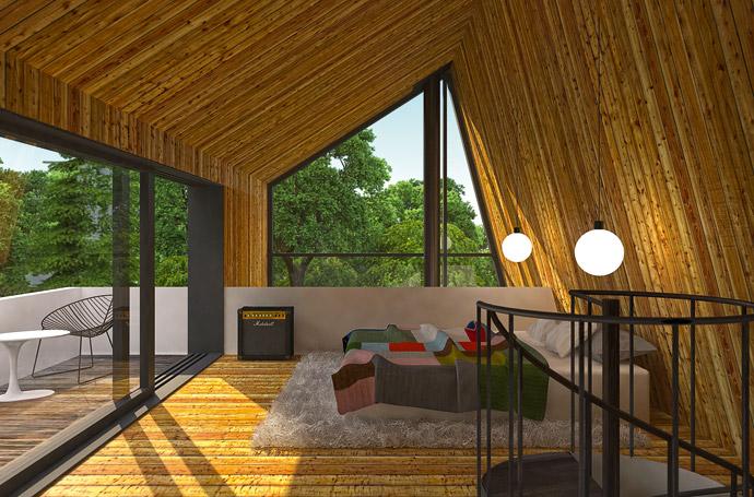 Летний загородный дом. 3D визуализация. ФОТО
