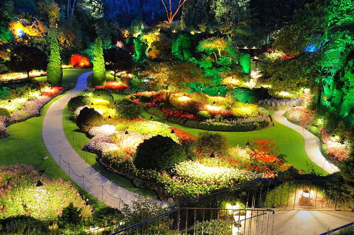 Освещение в саду. Фонари в саду