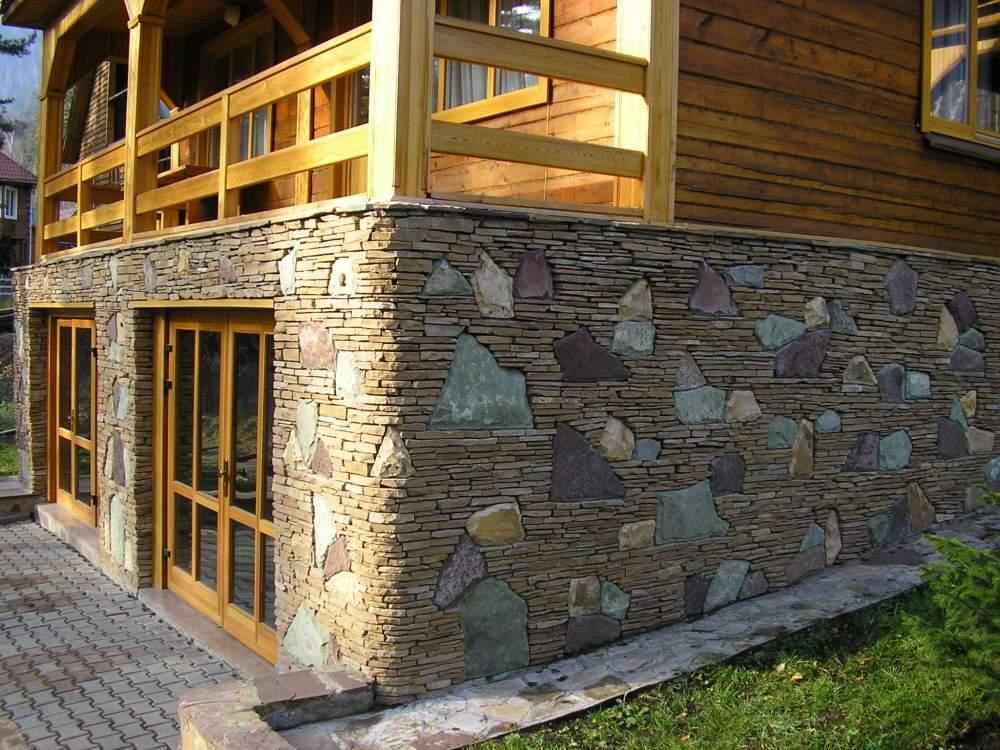 Отделка своими руками фасада природным камнем 61