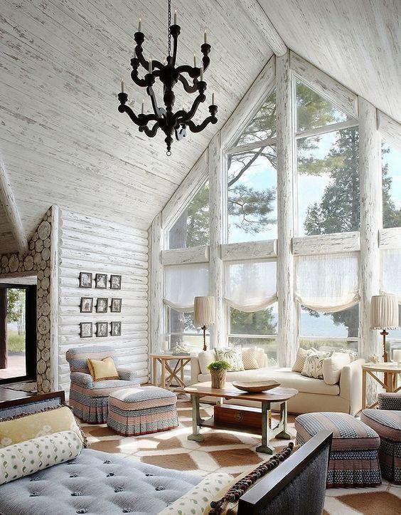 Фото интерьера А-образных домов
