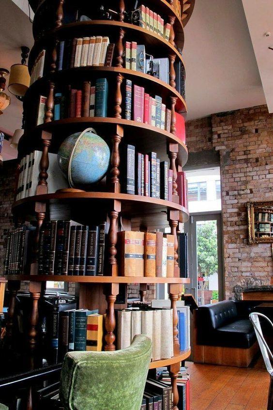 Книжный шкаф островного типа