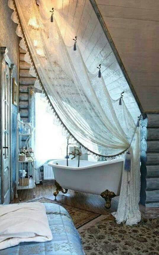 Ванная со шторой