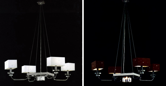 Современная люстра в двух цветовых вариантах