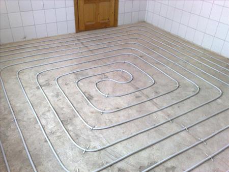 Схема труб под водяным теплым полом