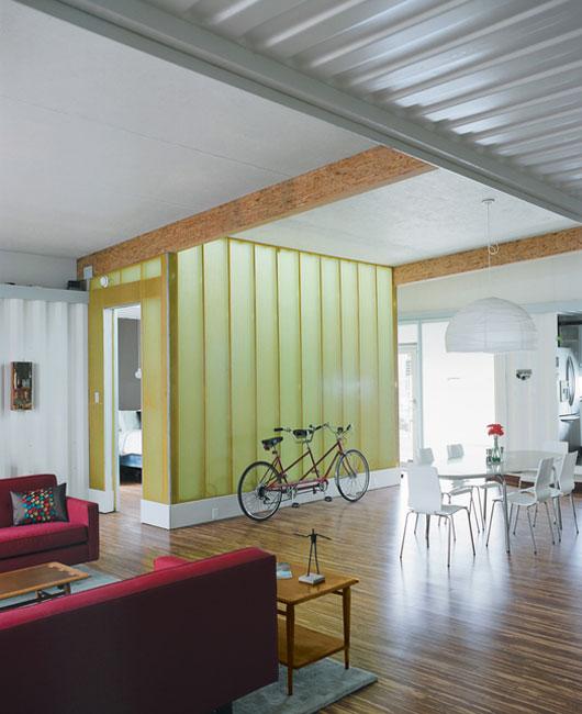 Cordell House: современный дом из контейнеров студии Numen Development, проект одноэтажного дома