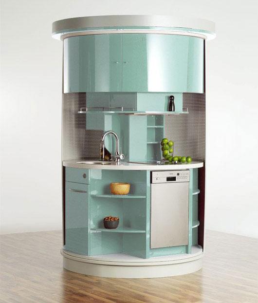 Круглая мебель для маленькой кухни