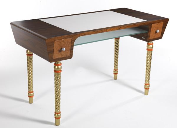 Лофт Byblos в синем кабинете - столик Henner