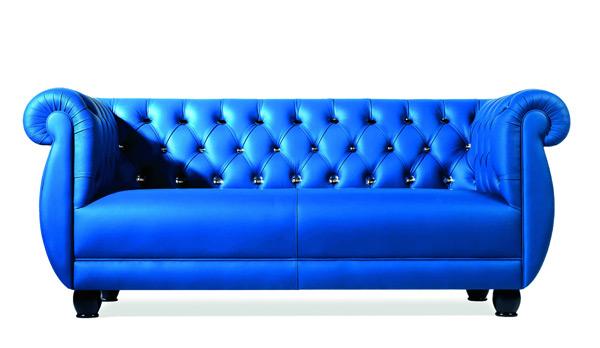 Лофт Byblos в синем кабинете - диван Canova