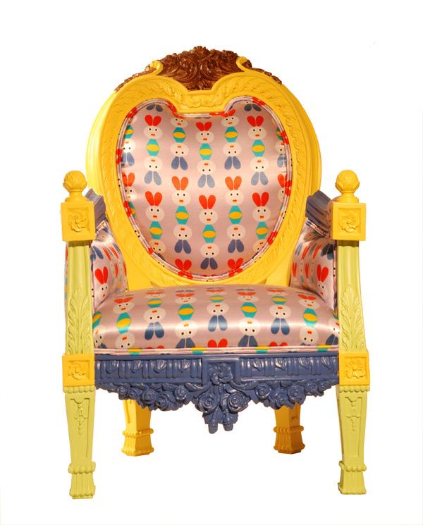 красочная мебель от Byblos - кресло Hamelin