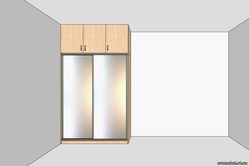 Шкафы-купе с антресолями