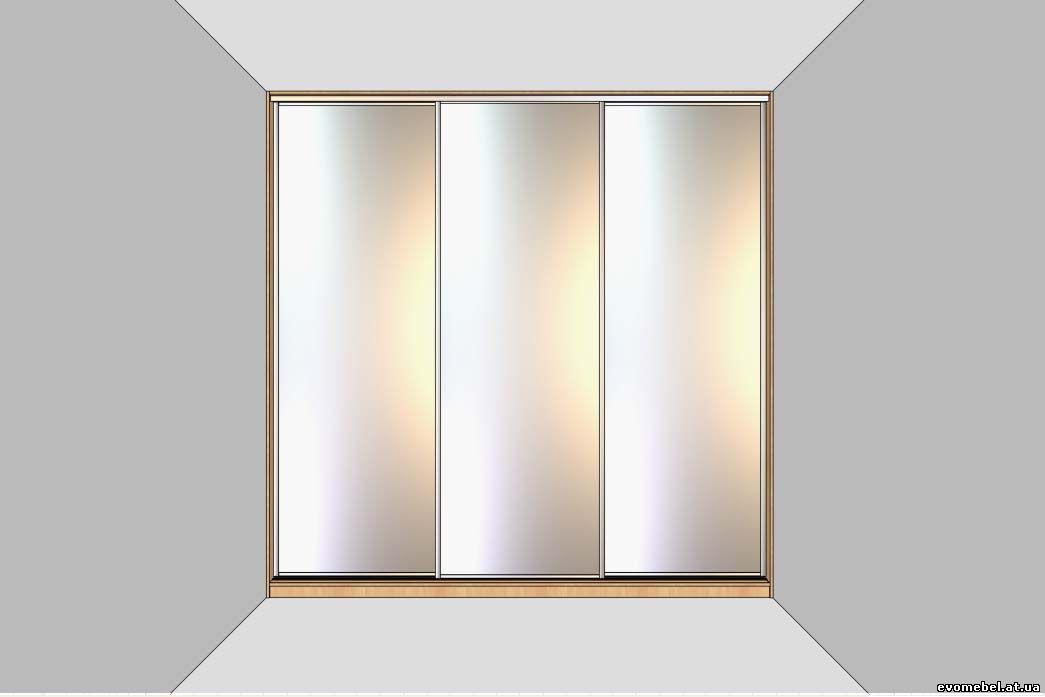 Шкафы-купе в нише (от одной стены до другой)