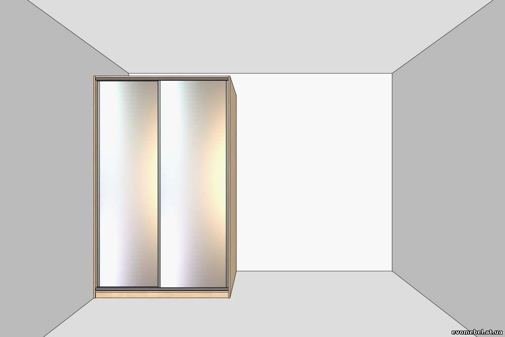 Шкафы-купе углового типа (одна лицевая панель)