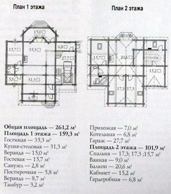 Дом из оцилиндрованного бревна сибирской лиственницы