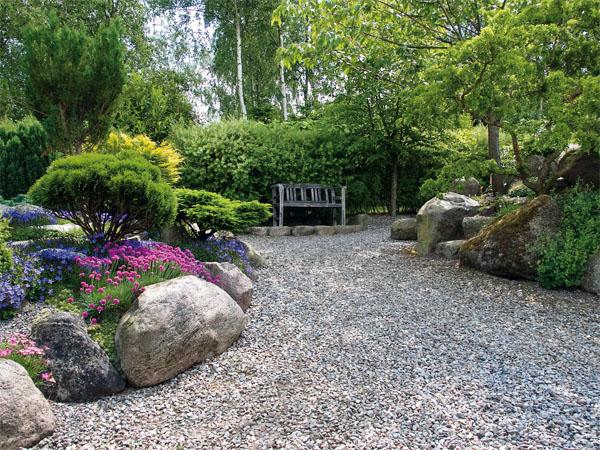 Оформляем сад в восточном стиле: щебень, гравий и валуны