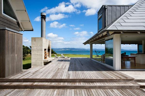 «Открытый» дом на берегу моря в Новой Зеландии