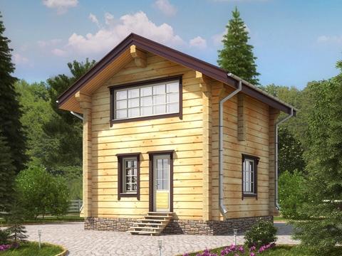 Преимущества лафета в строительстве деревянных домов