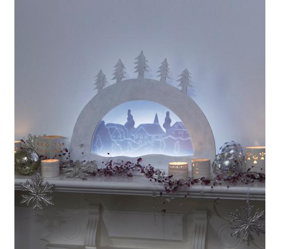 Диорама заснеженной деревни: шаг за шагом. Рождественский декор