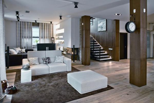 Необычный интерьер двухуровневой квартиры «Покинутая Венера»
