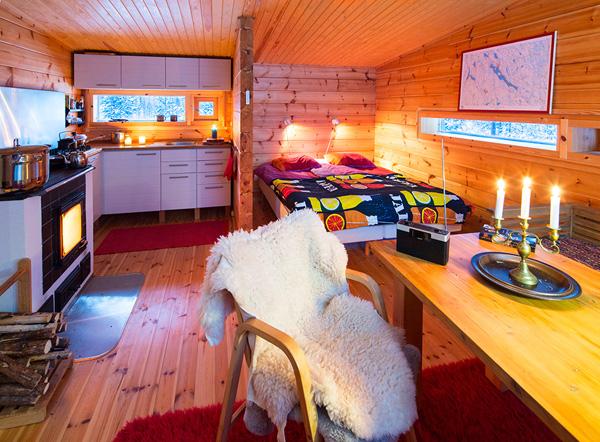 Деревянный дом Valtanen в Лапландии: единение с природой