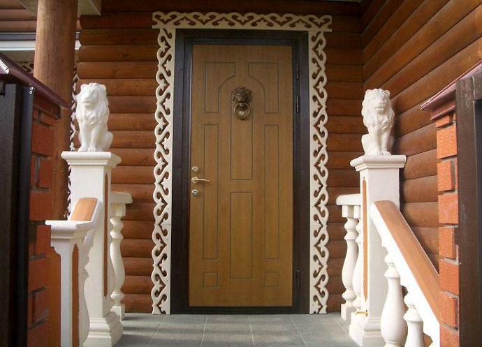 Металлическая входная дверь фото