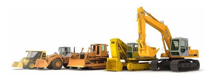 Строительная техника на участке: экскаваторы, самосвалы, бетономешалки
