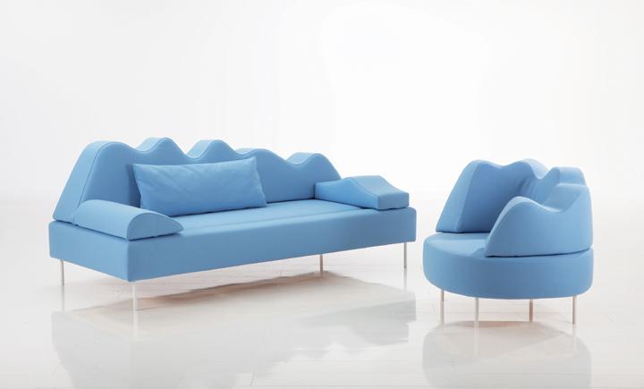 Кресло и диван COUPOLE BLEUE, дизайнер Kati Meyer-Brühl, BRÜHL