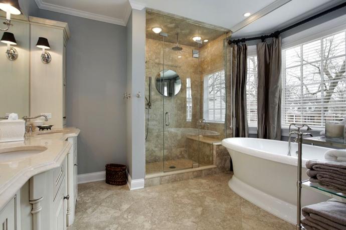 Душевая кабина как элемент интерьера ванной комнаты