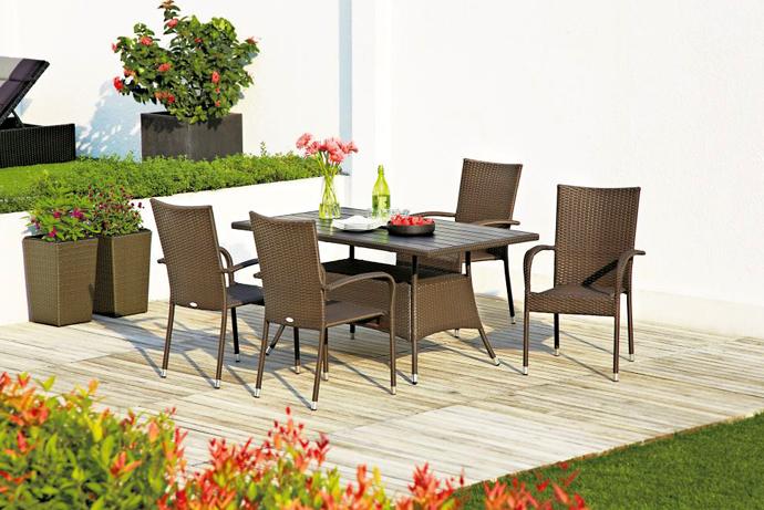 Мебель для сада JYSK. Мебель для террасы JYSK. Садовая мебель, стол и стулья