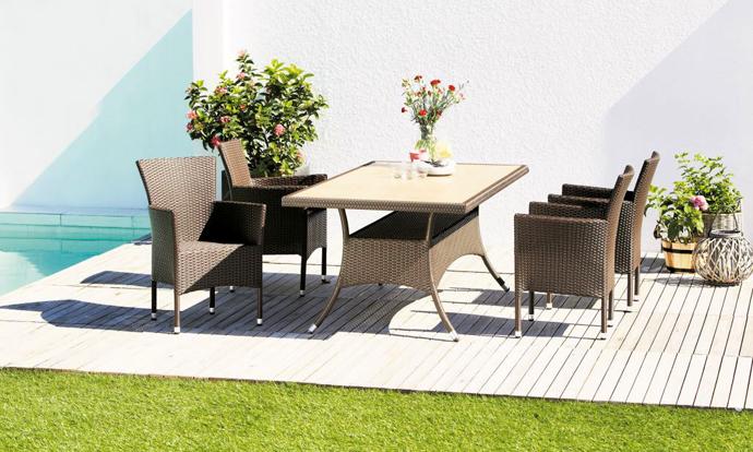 Садовая мебель JYSK. Мебель из ротанга JYSK