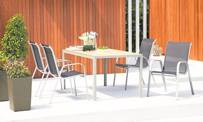 Мебель для улицы JYSK. Столы и стулья JYSK