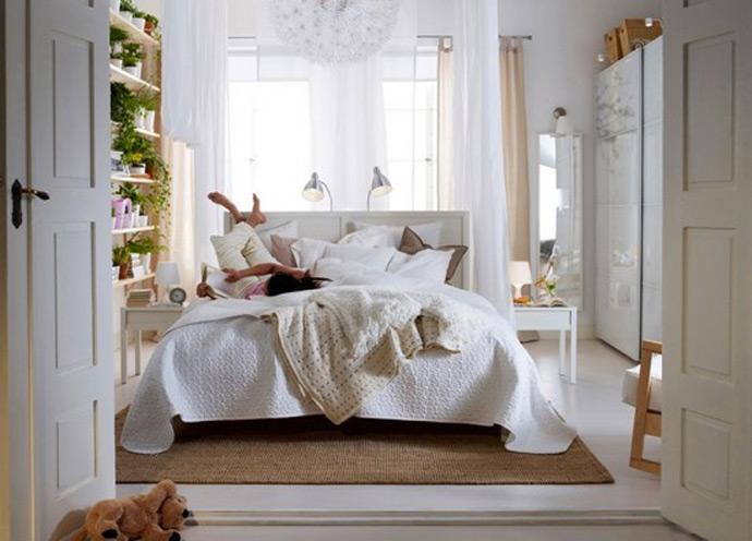 Белая спальня прованс